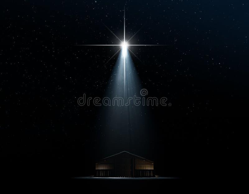 narodzenie jezusa abstrakcjonistyczna scena ilustracja wektor