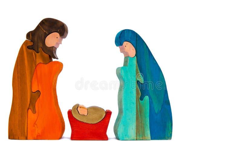 narodzenie jezusa drewniany zdjęcia stock