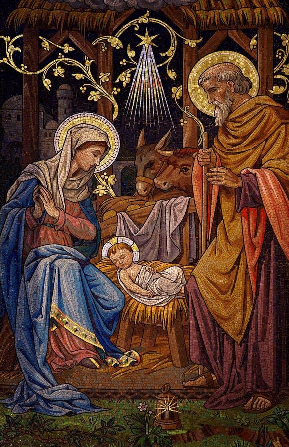 Narodzenie Jezusa (mozaika) obraz stock