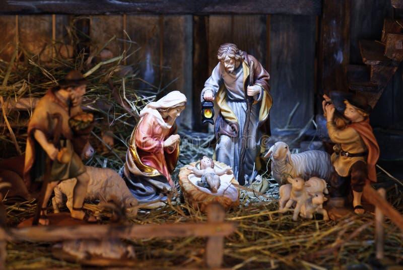 narodzenie jezusa scena obrazy stock