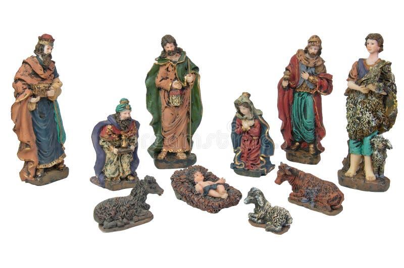 narodzenie jezusa scena fotografia royalty free