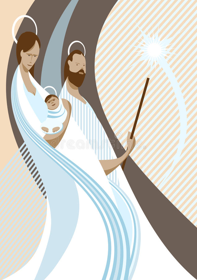 narodzenie jezusa scena ilustracja wektor