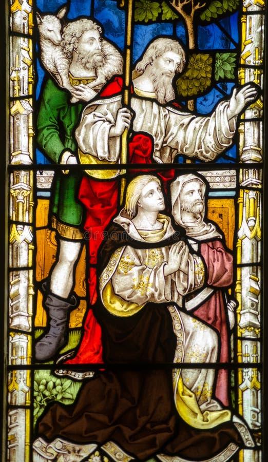 Narodzenie Jezusa witrażu okno fotografia royalty free