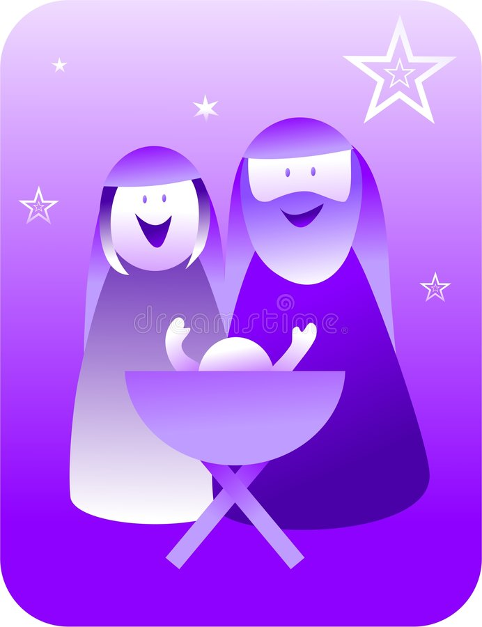 narodzenie retro jezusa royalty ilustracja