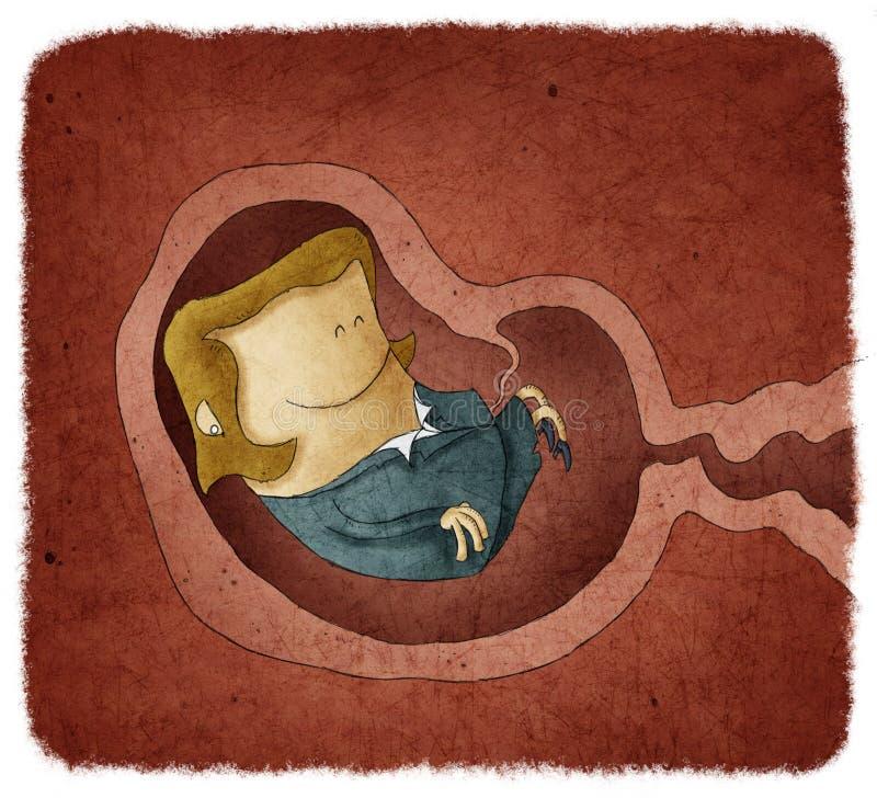Narodziny nowy kobieta przedsiębiorca ilustracja wektor