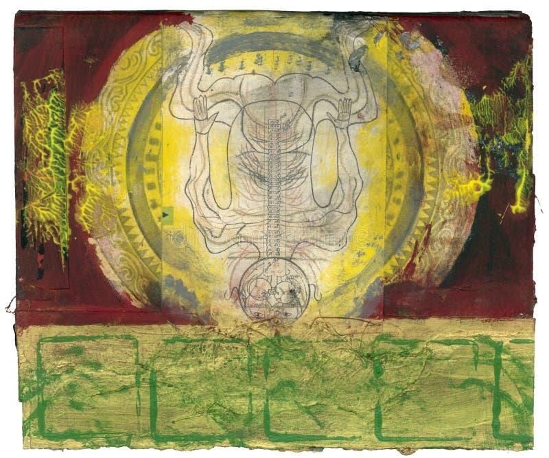 narodziny pozaziemski royalty ilustracja