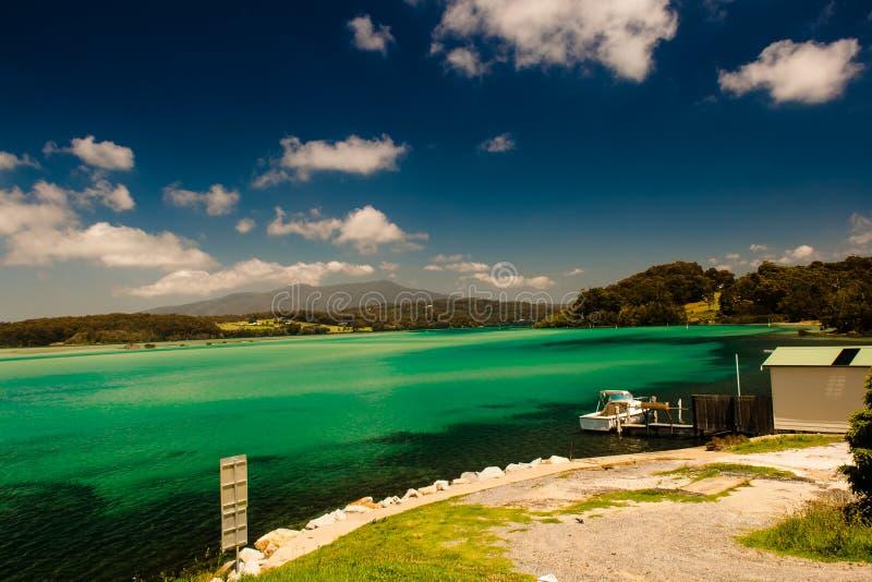 Narooma河盐水湖澳洲 免版税图库摄影