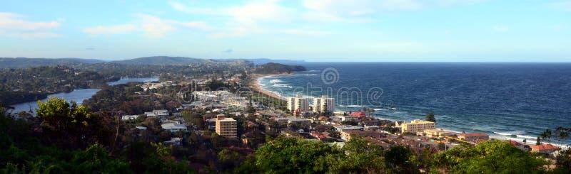 Narrabeen beach from Collaroy Plateau. (Sydney, NSW, Australia royalty free stock photo
