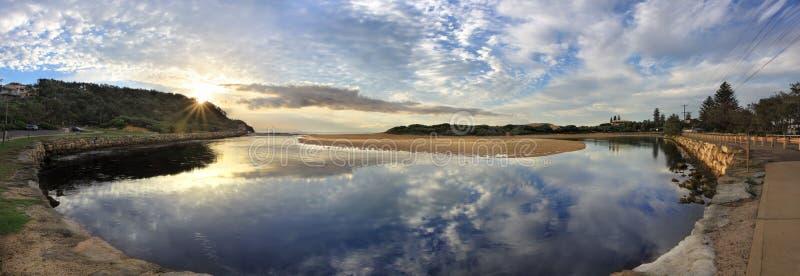 Narrabeen-Landschaftpanorama stockbilder
