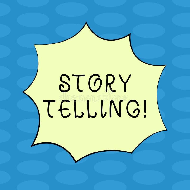 Narración de cuentos del texto de la escritura de la palabra El concepto del negocio para cuenta o escribe narraciones breves com stock de ilustración