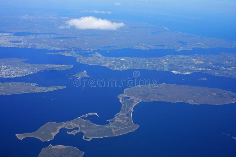 Narragansett海湾,罗德岛州 免版税图库摄影