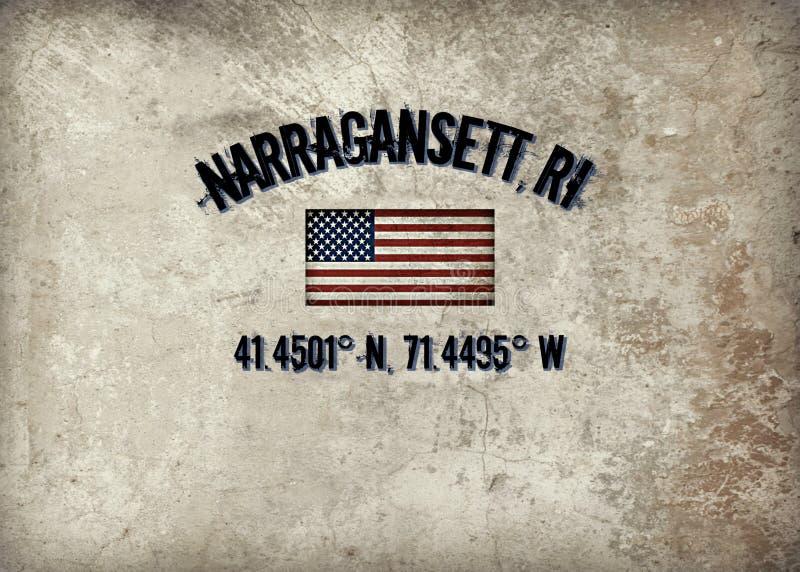 Narragansett, Rhode Island stock de ilustración