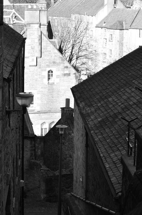 Narrow alley royalty free stock photo