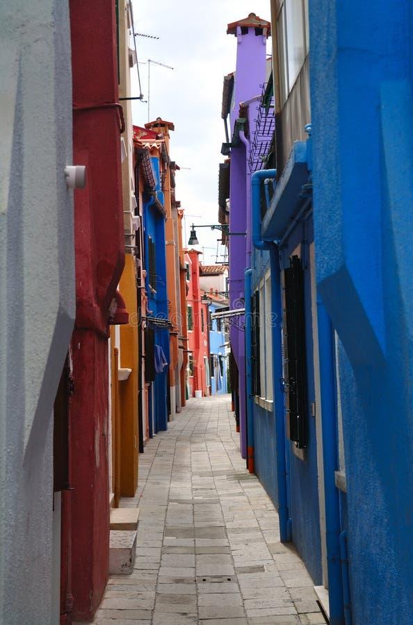 Free Narrow Alley On The Burano Island Royalty Free Stock Image - 11654956