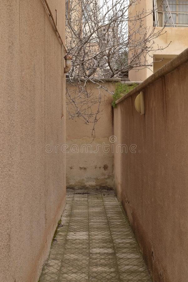 A Narrow Alley stock photos