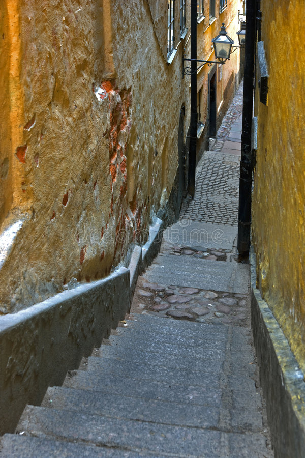 Download Narrow alley in Stockholm stock photo. Image of europe - 6999620