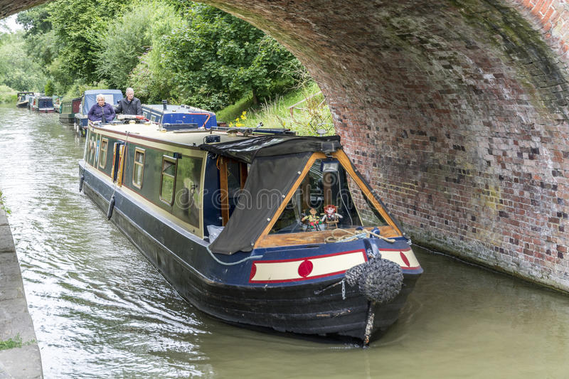 Narrow Boat. On the Avon at Pewsey Wharf, Marlborough Rd, Pewsey, Wiltshire stock photos