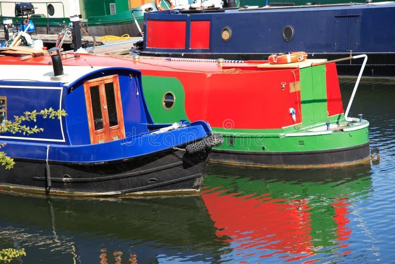 Download Narrow Boats stock image. Image of boats, marina, reflections - 2250497