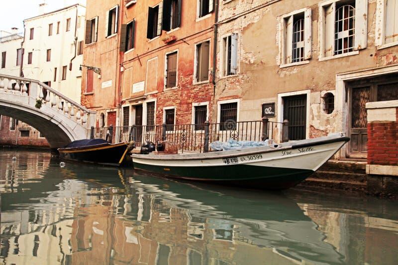Narrow Canal in Venice, Italy royalty free stock image