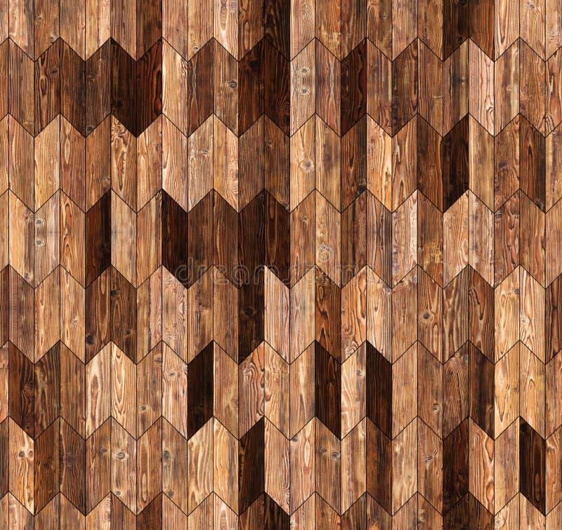 Narrow chevron natural larch parquet seamless floor texture. Background stock photos