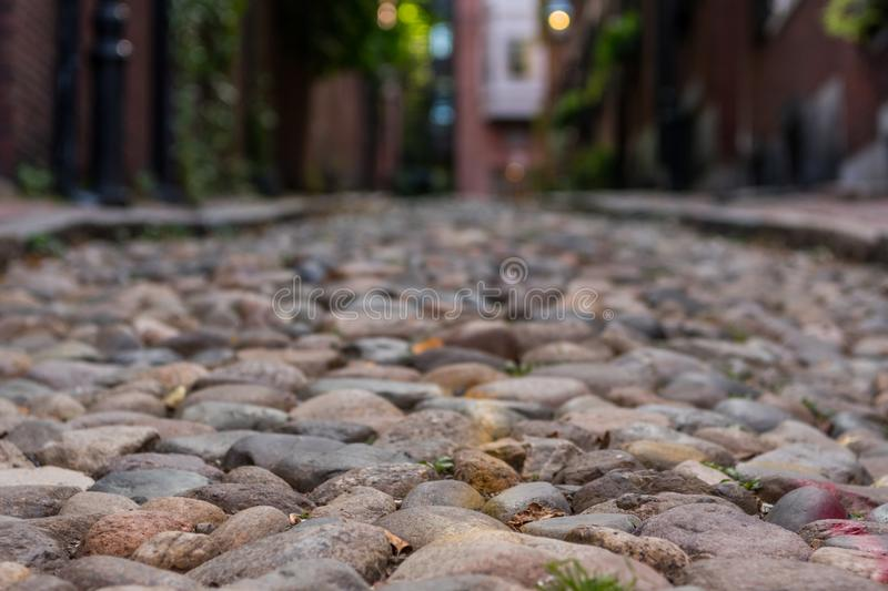 Narrow Cobble Stone Walkway royalty free stock images