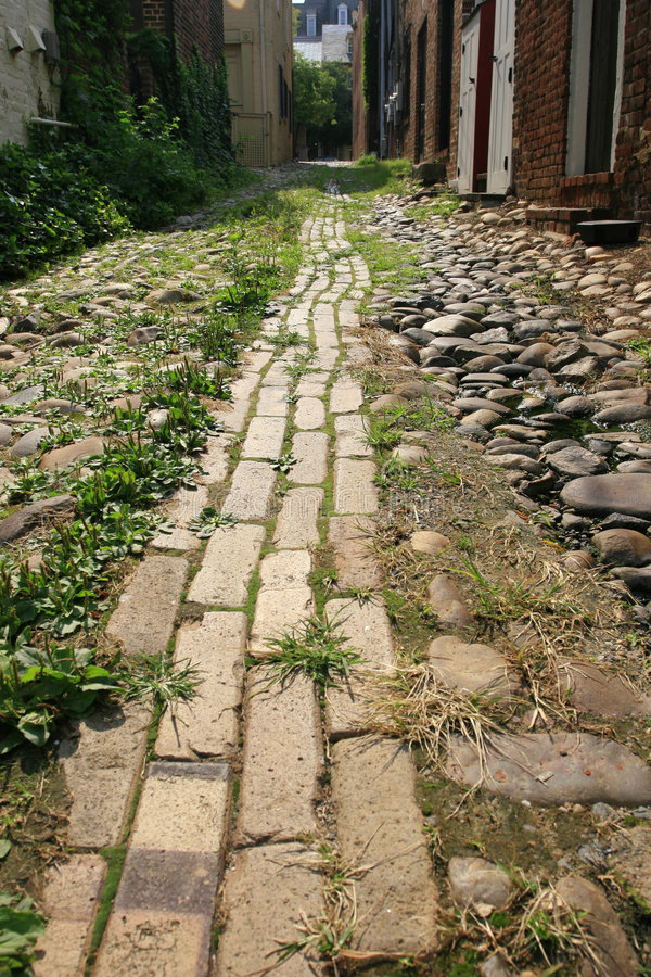 Free Narrow Cobblestone Road Royalty Free Stock Photo - 5731215