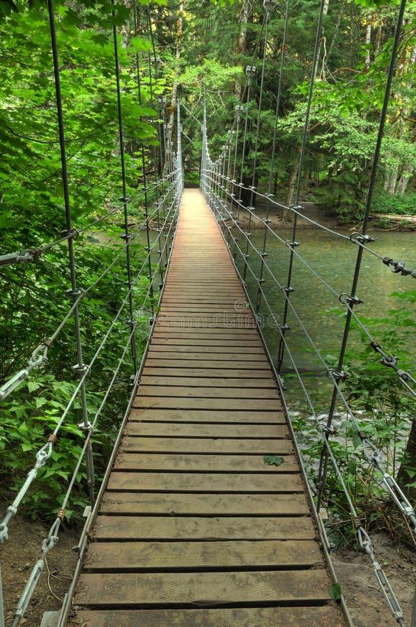 Narrow foot bridge royalty free stock photos