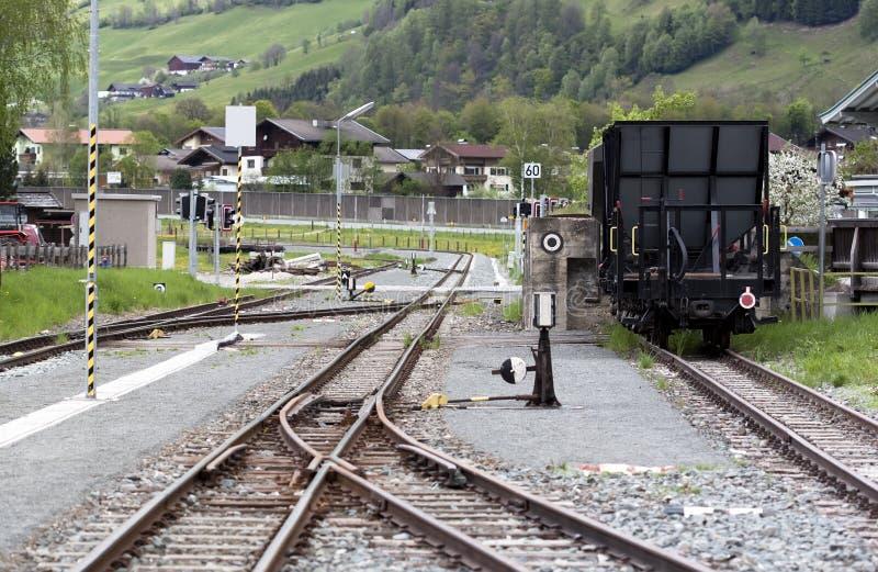 Narrow gauge station stock image