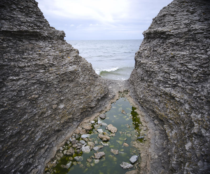 Download Narrow gorge and ocean stock image. Image of remote, shoreline - 10761943