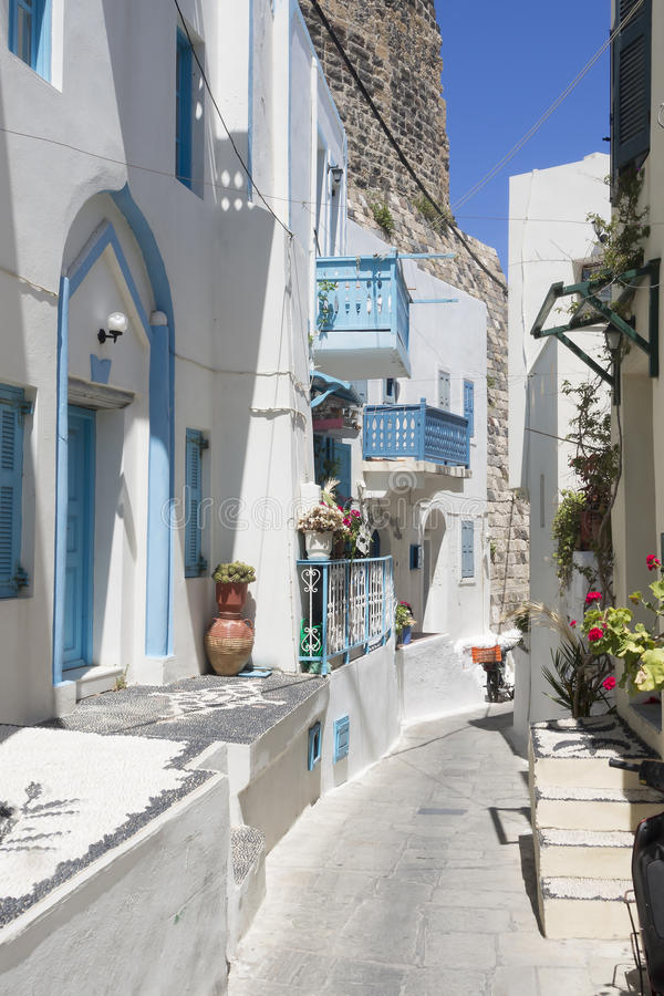 Free Narrow Greek Street Stock Image - 32617221