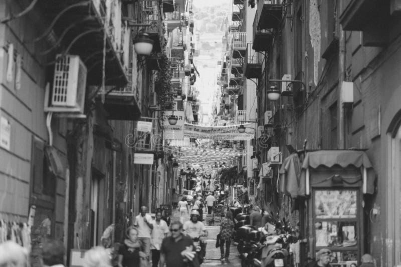 Narrow Italian street royalty free stock photo