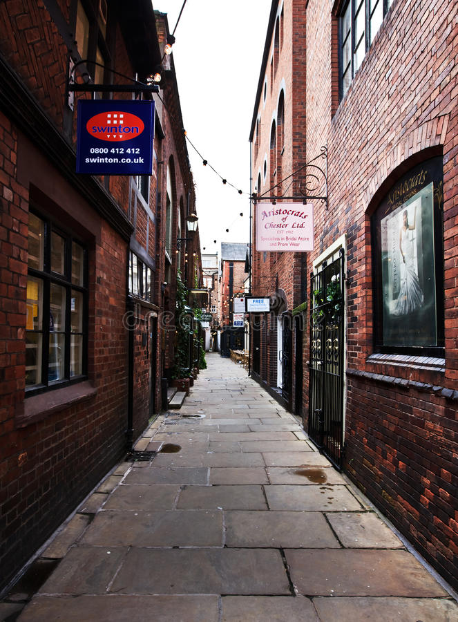 Download Narrow Lane In Chester Town, UK Editorial Photo - Image: 26013096