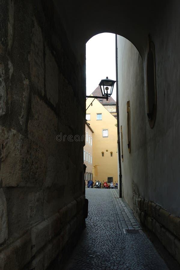 Download Narrow Old Street In Regensburg,Bavaria,Germany Stock Image - Image: 28996741