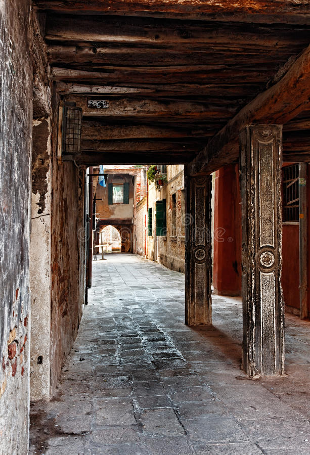 Download Narrow passage stock image. Image of wooden, tourism - 22741229