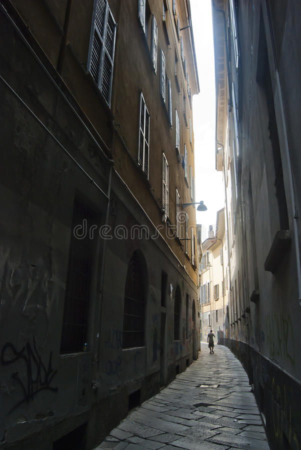 Download Narrow passage stock image. Image of abandon, outdoor - 25692355