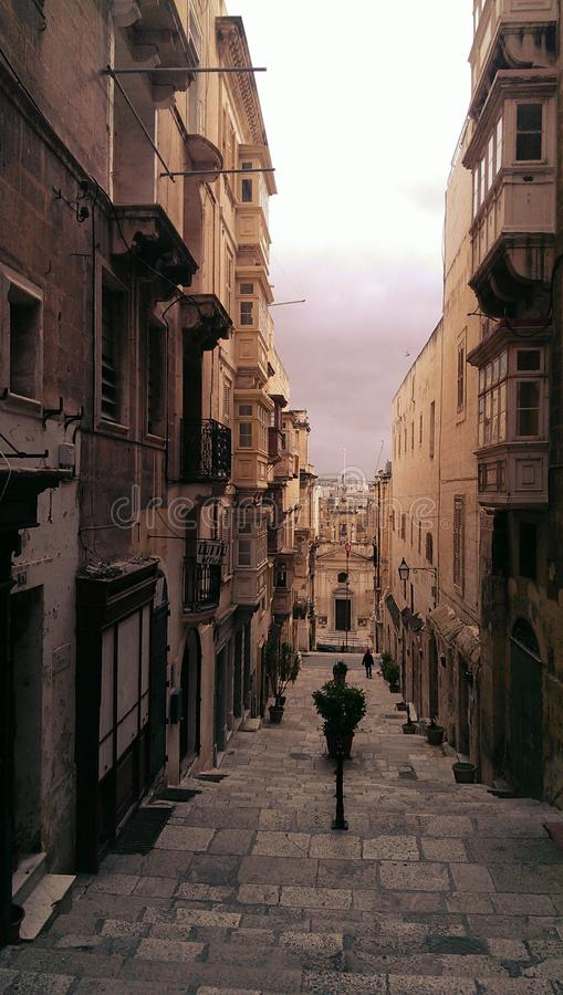 Free Narrow Passage In Valletta Malta Stock Images - 48546554