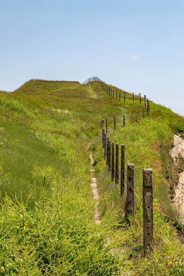 A Narrow Pathway up a Cliff royalty free stock photography
