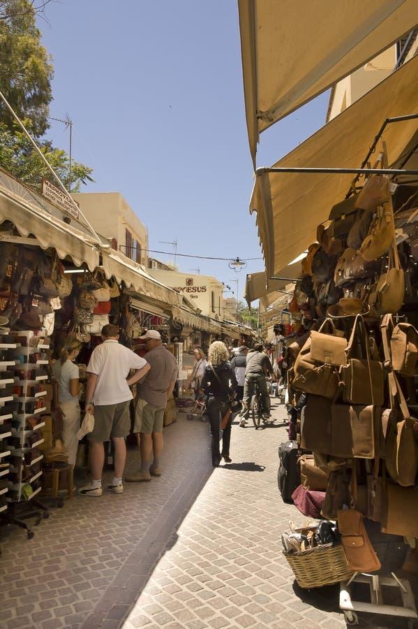 Narrow pedestrians street royalty free stock photo