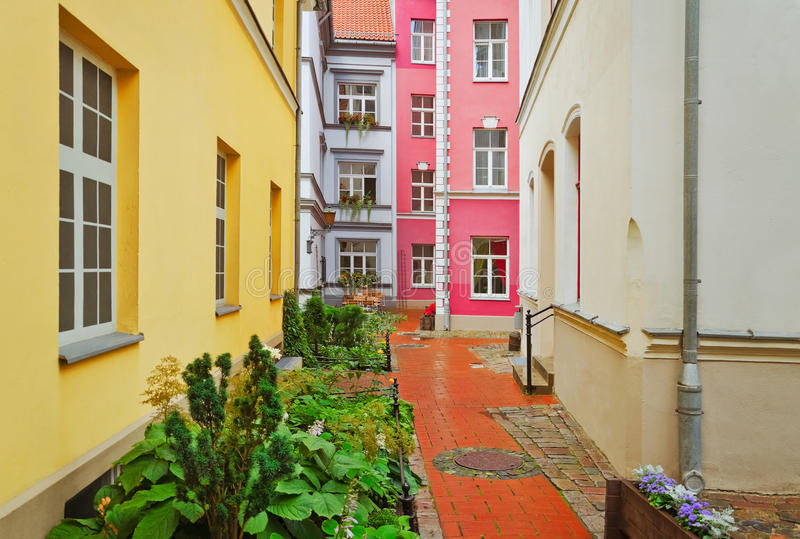 Download Narrow Riga street stock image. Image of pavement, seta - 26327823