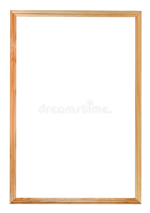 Narrow simple wood picture frame royalty free stock photo
