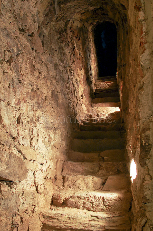 Download Narrow stairway stock photo. Image of stair, alley, light - 8856736