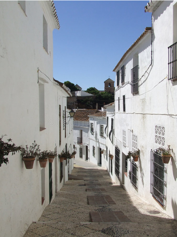 Download Narrow Street stock image. Image of village, mijas, narrow - 1713153