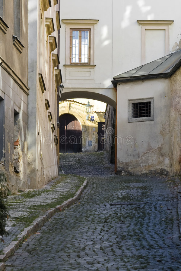 Download Narrow street stock image. Image of street, lamp, pavement - 7106177
