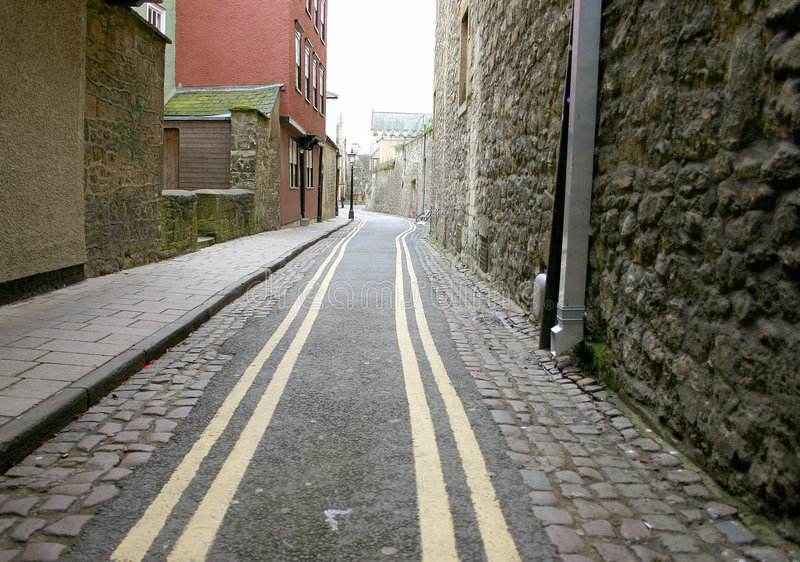 Download Narrow street stock photo. Image of pointer, road, straight - 75344