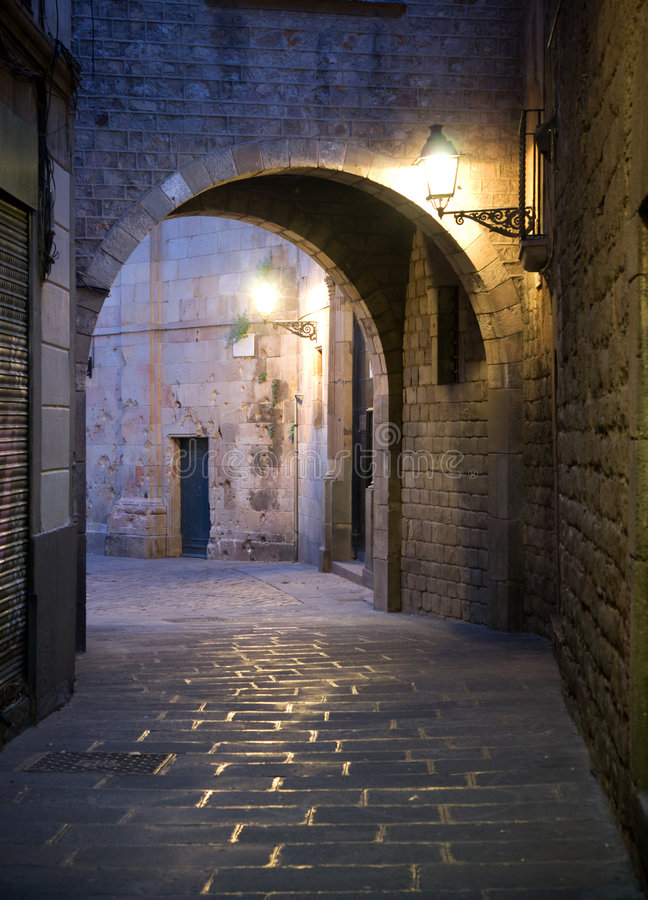 Download Narrow Street In Barcelona Stock Photography - Image: 8719862