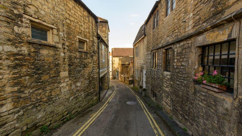 Narrow Street in Bradford-on-Avon. Wiltshire, England royalty free stock image