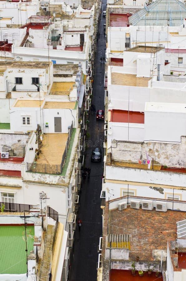Download Narrow street in Cadiz stock photo. Image of buildings - 29032320