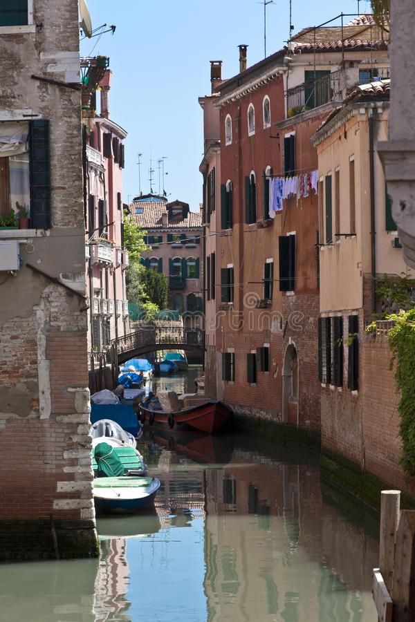 Download The Narrow Street - Channel In Venice Stock Image - Image: 25506785