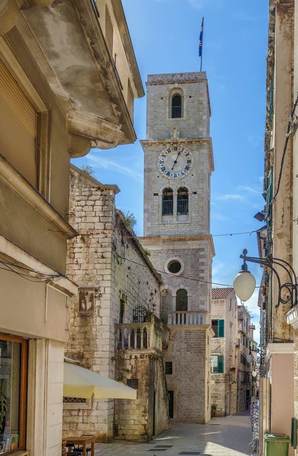 Street in Sibenik, Croatia stock images