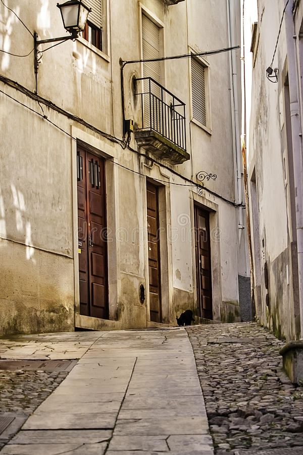 Download Narrow street in Coimbra stock image. Image of passage - 31005643